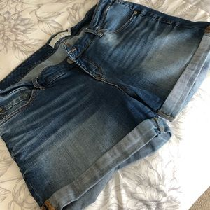 Torrid Cuffed Jean Shorts